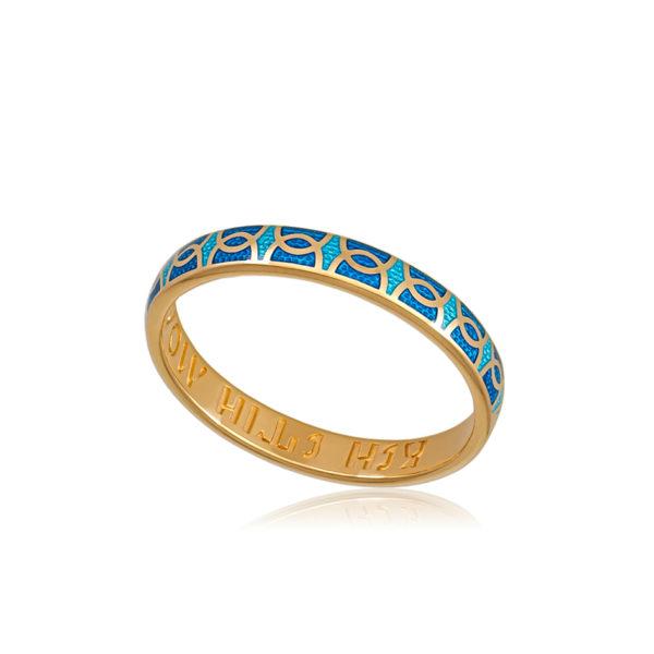 6 33 2z 1 600x600 - Кольцо из серебра «Седмица» (золочение), голубая