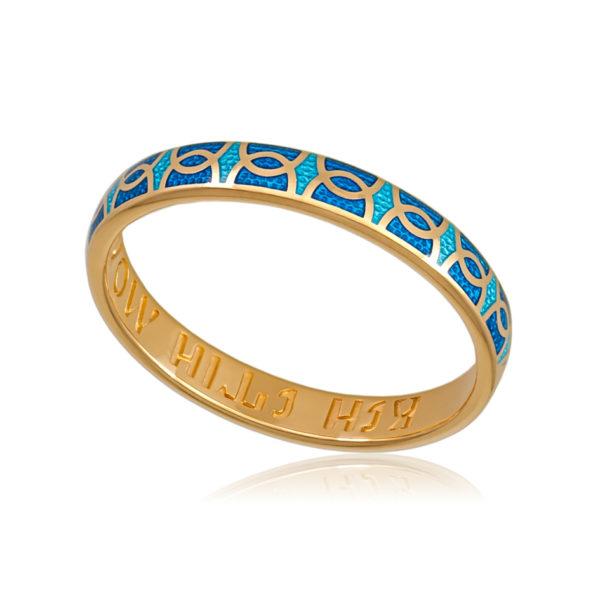 6 33 2z 600x600 - Кольцо «Седмица» (золочение), голубая