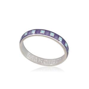 6 34 1s 1 300x300 - Кольцо из серебра «Седмица», фиолетовое