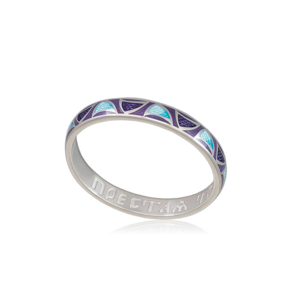 6 35 fioletovaya 1 600x600 - Кольцо из серебра «Седмица», фиолетовое