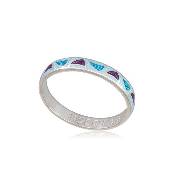 6 35 golubaya 1 600x600 - Кольцо из серебра «Седмица», голубое