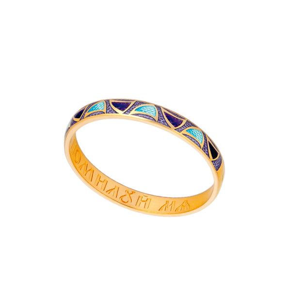 6 35z fioletovaya 1 600x600 - Кольцо серебряное «Седмица» (золочение), фиолетовое