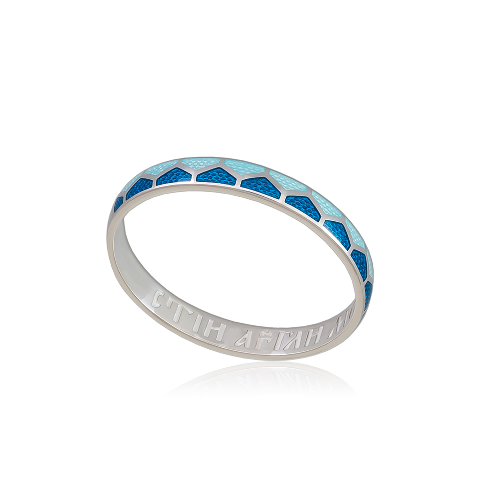 6 36 1s 1 - Кольцо из серебра «Седмица», голубая