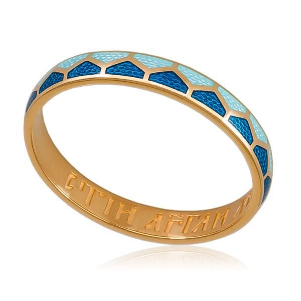 6 36 1z 600x600 - Кольцо «Седмица» (золочение), голубое