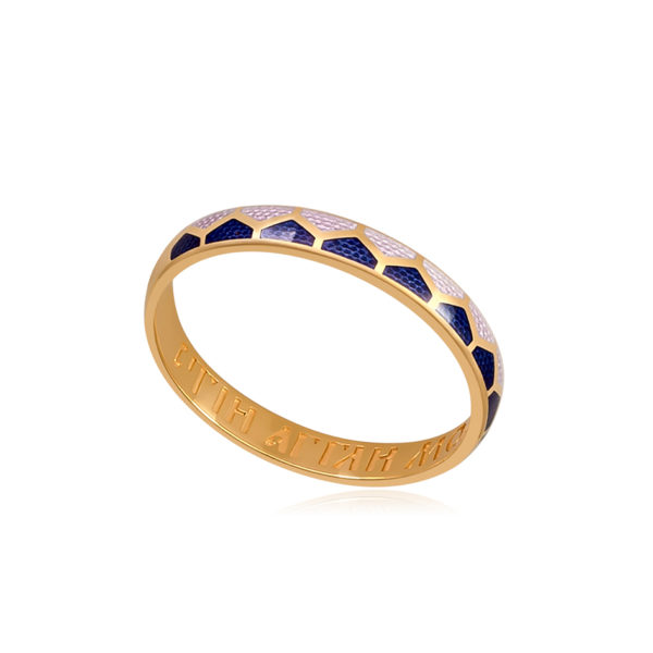 6 36 2z 1 600x600 - Кольцо «Седмица» (золочение), голубое