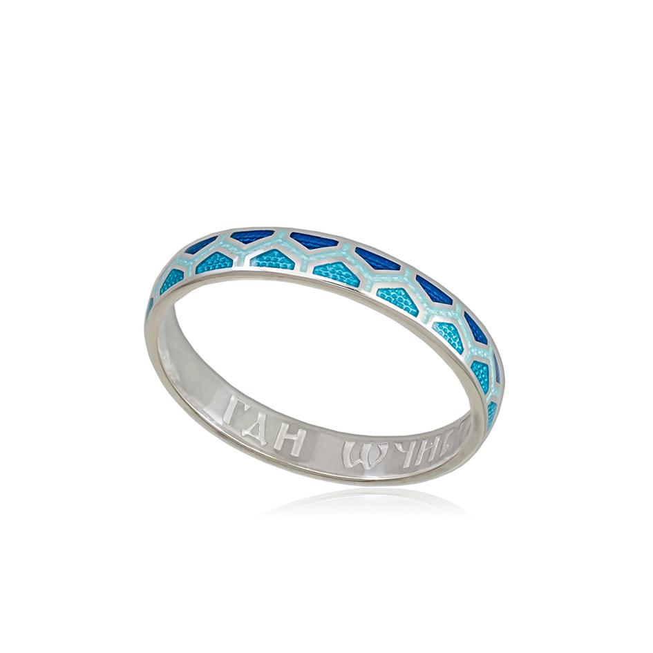 6 37 1s 1 - Кольцо из серебра «Седмица», голубая