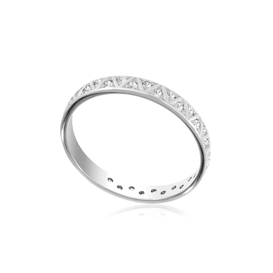 6 38s 1 - Кольцо из серебра с фианитами