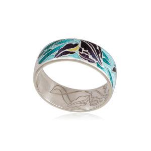 6 46 1s 4 300x300 - Кольцо из серебра «Ирисы», морская волна