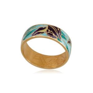 6 46 1z 1 1 300x300 - Кольцо из серебра «Ирисы» (золочение), морская волна