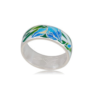 6 46 3s 1 300x300 - Кольцо из серебра «Ирисы», голубая