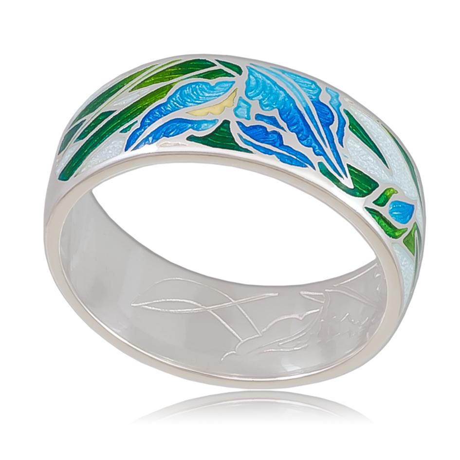 6 46 3s - Кольцо «Ирисы», голубая