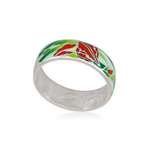 6 46 4s 1 300x300 - Кольцо из серебра «Ирисы» (золочение), морская волна