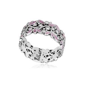 6 53 2s 1 300x300 - Кольцо из серебра «Росинка», розовое с фианитами