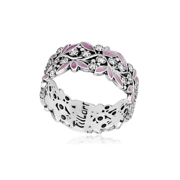 6 53 2s 1 600x600 - Кольцо «Росинка», розовое с фианитами