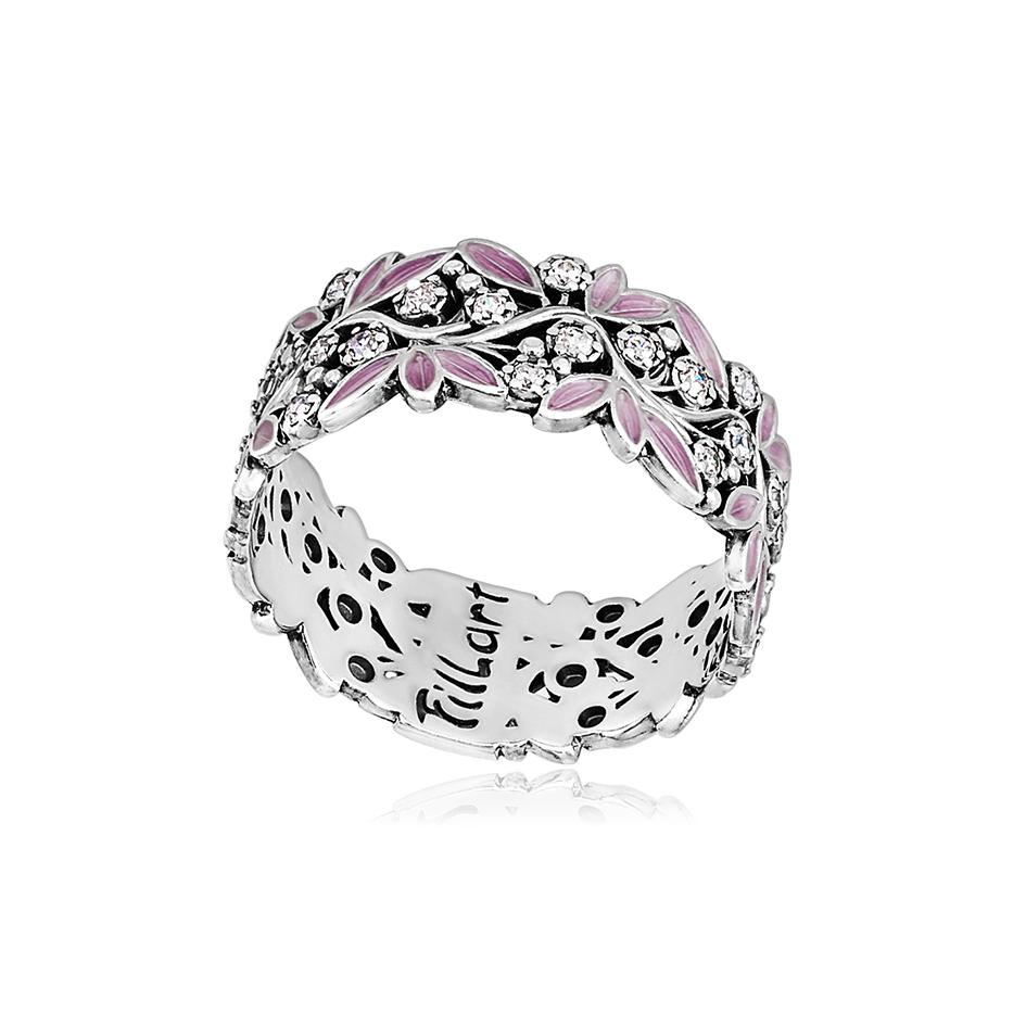 6 53 2s 1 - Кольцо из серебра «Росинка», розовое с фианитами