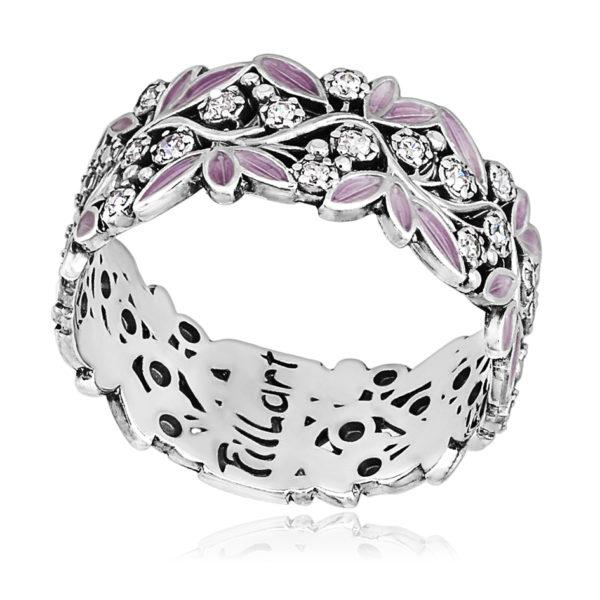 6 53 2s 600x600 - Кольцо «Росинка», розовое с фианитами