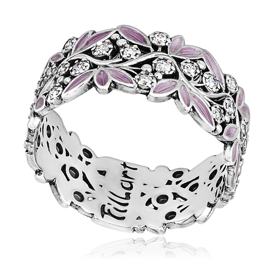 6 53 2s - Кольцо «Росинка», розовое