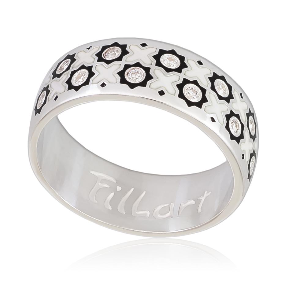 Кольцо «Восточное», черно-белая
