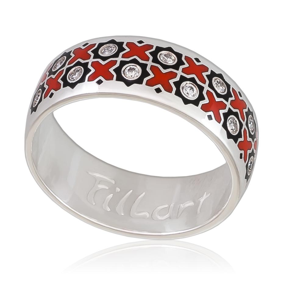 Кольцо «Восточное», черно-красная