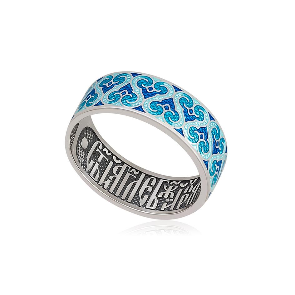 6 55 1s 1 - Кольцо из серебра «Молитва ангелу», синяя