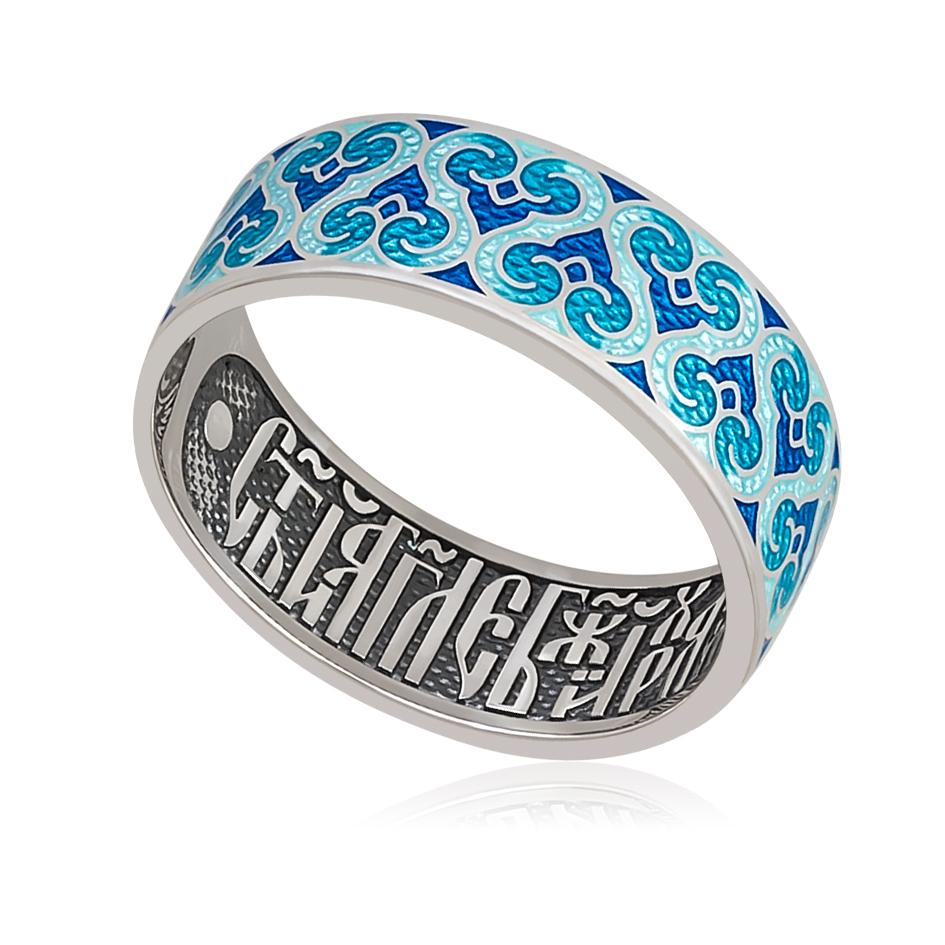 6 55 1s - Кольцо «Молитва ангелу», синяя