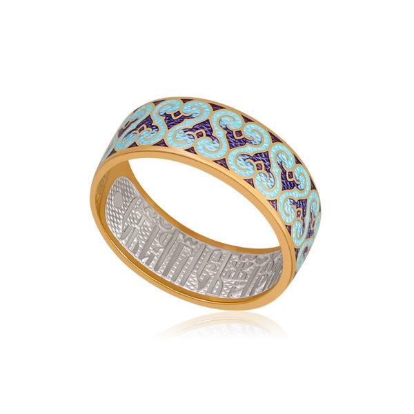 6 55 2z 1 600x600 - Кольцо из серебра «Молитва ангелу» (золочение), фиолетовое