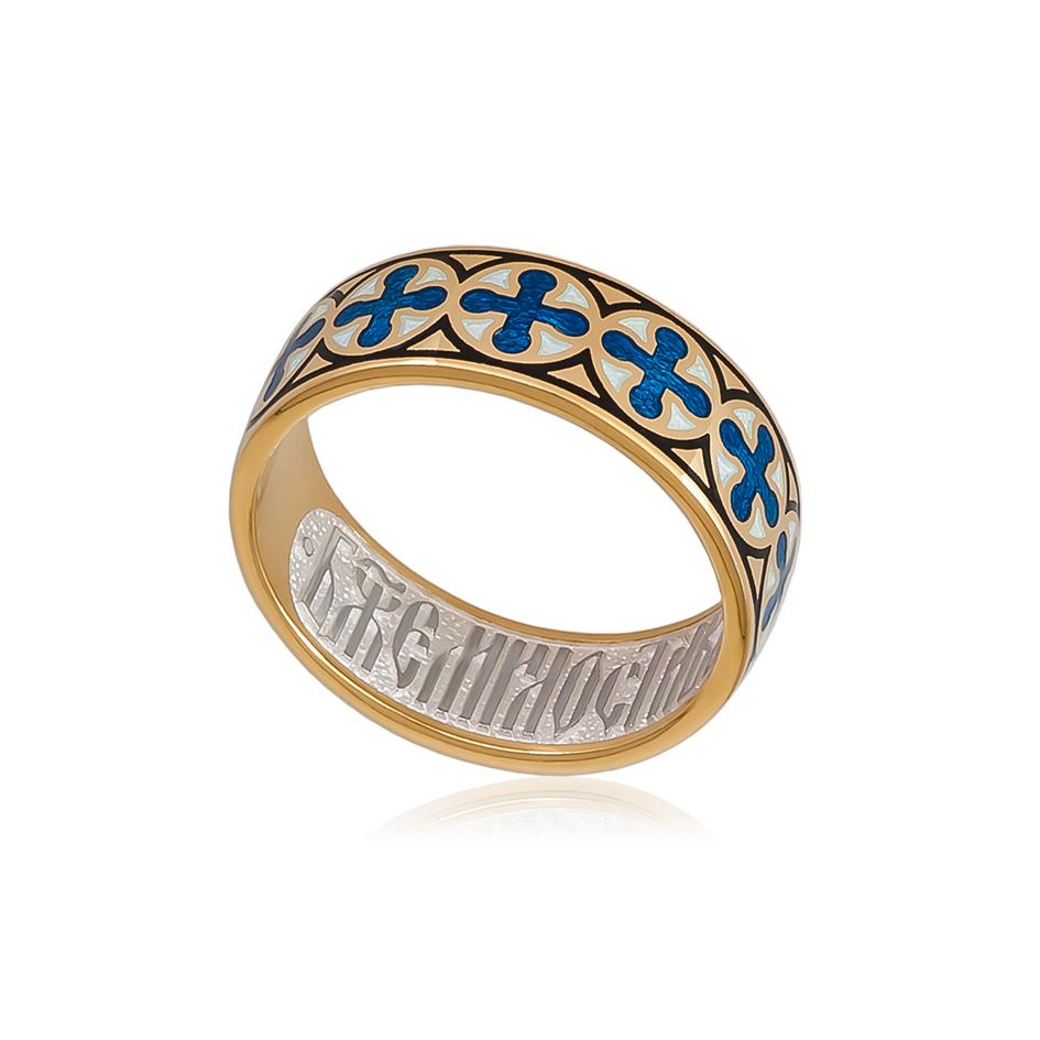 6 56 1z 1 1 - Кольцо из серебра «Византийское» (золочение), синее