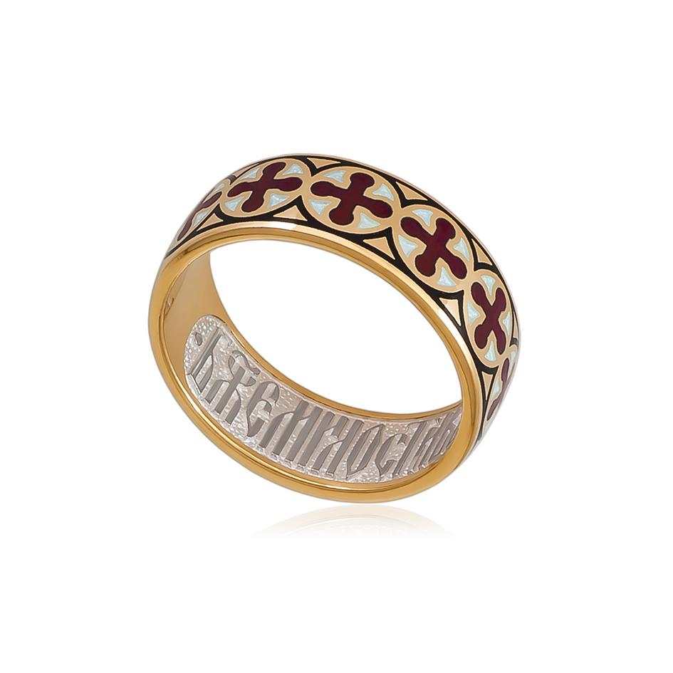 6 56 2z 1 1 - Кольцо из серебра «Византийское» (золочение), красное