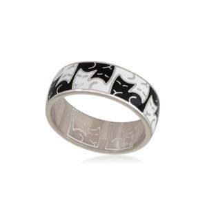 6 59 2s 1 300x300 - Кольцо из серебра «Котики Инь-Ян», черно-белое