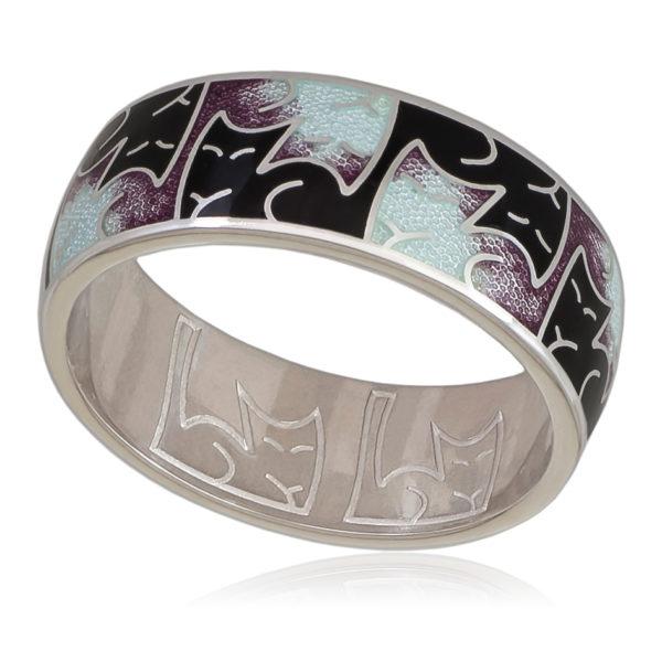 6 59 3s 600x600 - Кольцо «Котики Инь-Ян», фиолетовая