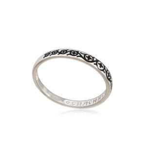 6 61 1s 2 300x300 - Кольцо из серебра «Молитва мытаря», черная