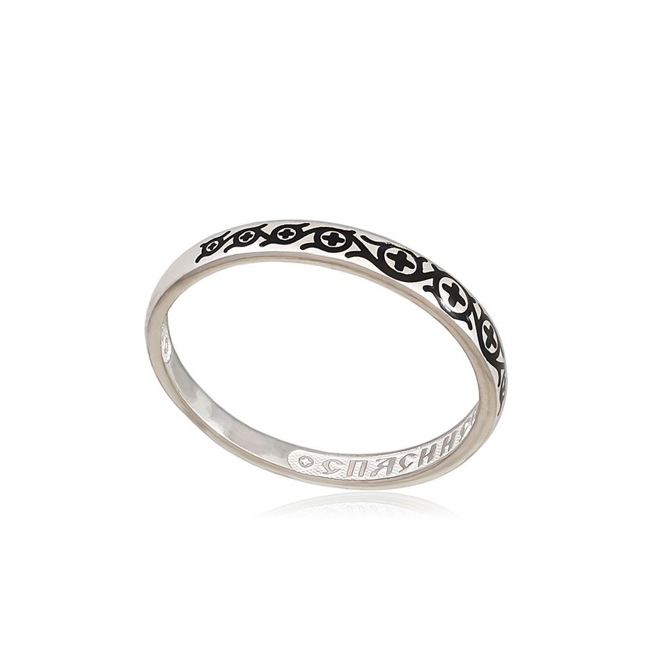 6 61 1s 2 - Кольцо из серебра «Молитва мытаря», черная