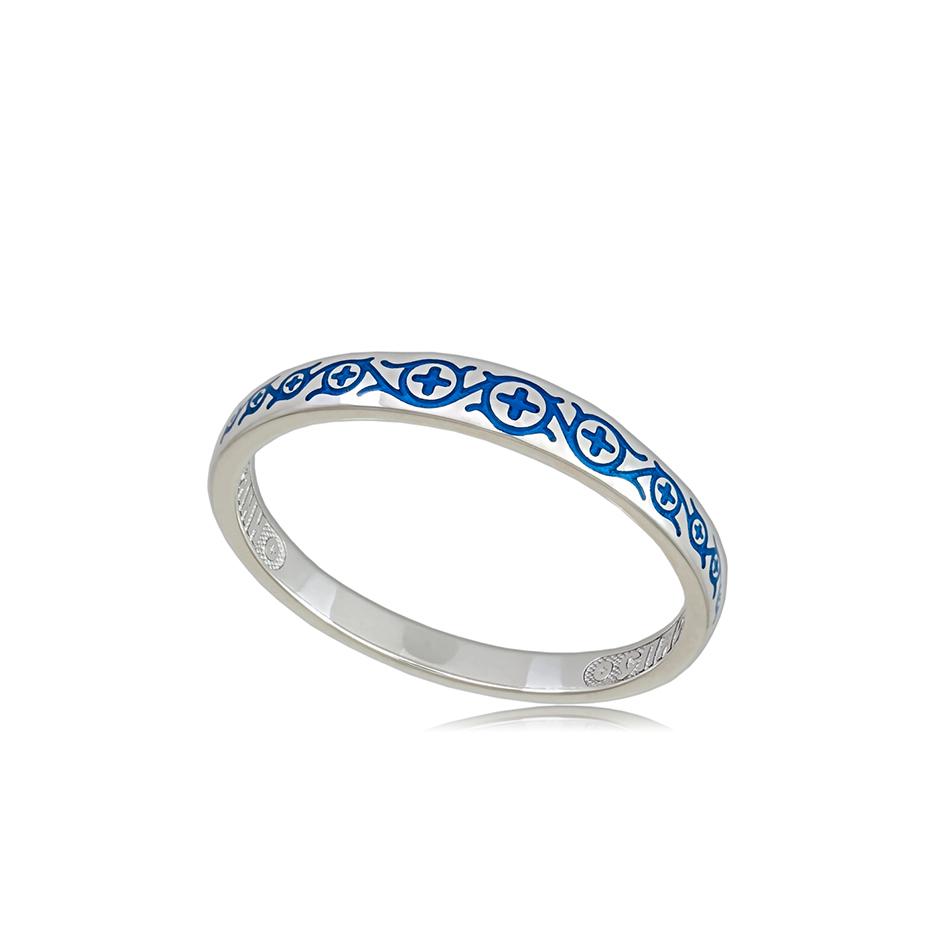 6 61 2s 1 - Кольцо из серебра «Молитва мытаря», синяя