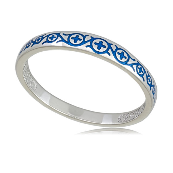 6 61 2s 600x600 - Кольцо «Молитва мытаря», синяя
