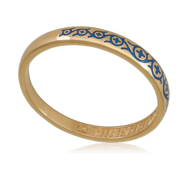 6 61 2z 600x600 - Кольцо «Молитва мытаря» (золочение), синяя