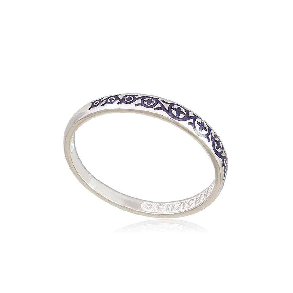 6 61 3s 1 - Кольцо из серебра «Молитва мытаря», фиолетовая