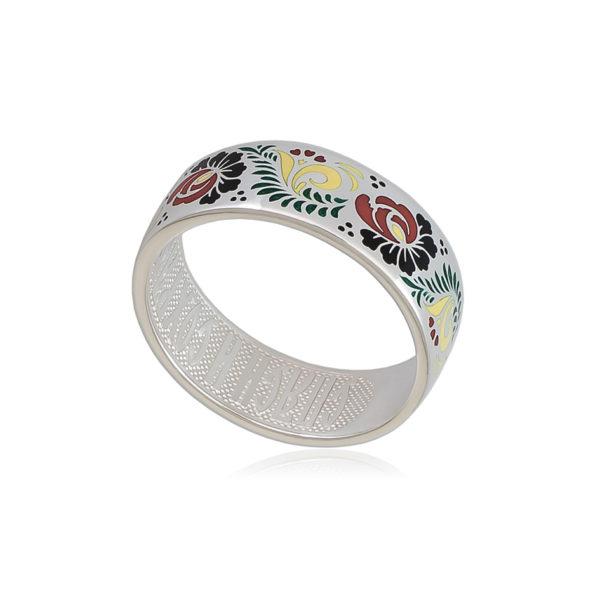 6 63 1s 1 600x600 - Кольцо из серебра «Пион», хохлома
