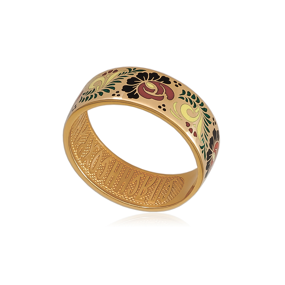 6 63 1z 1 - Кольцо «Пион» (золочение), хохлома