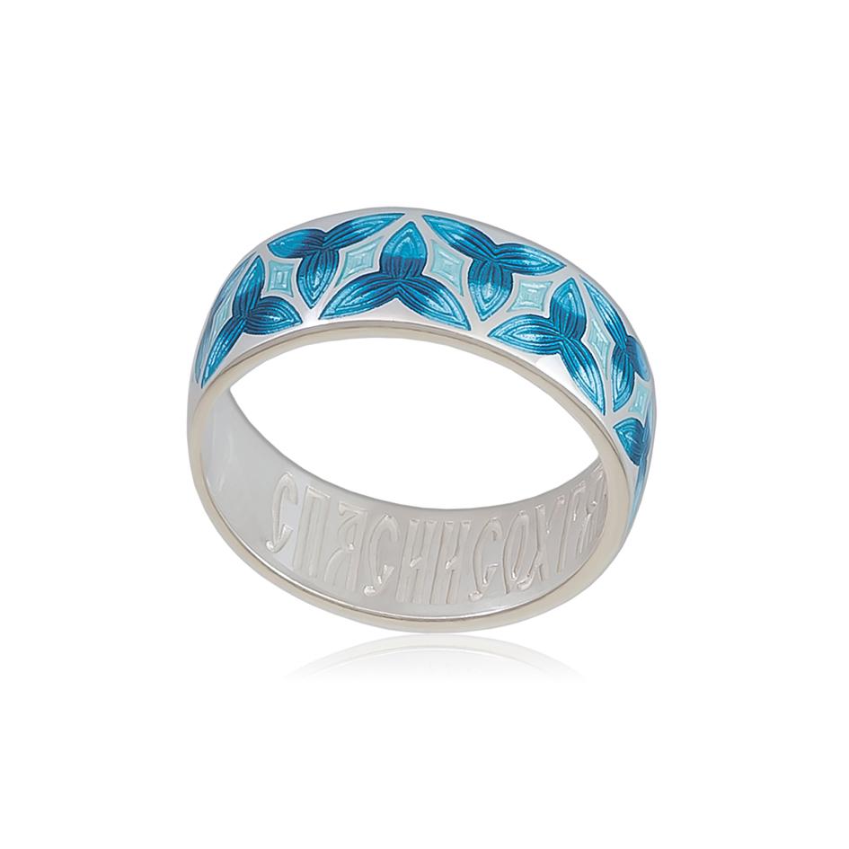 6 63 2s 2 - Кольцо из серебра «Трилистник», синее