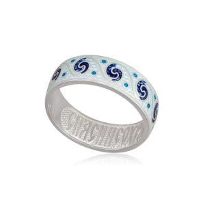 6 65 1s 1 300x300 - Кольцо из серебра «Меандр», белая