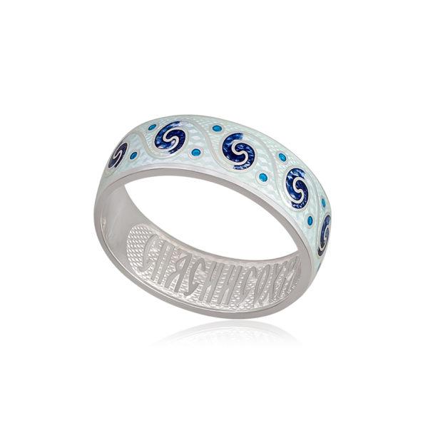 6 65 1s 1 600x600 - Кольцо из серебра «Меандр», белая