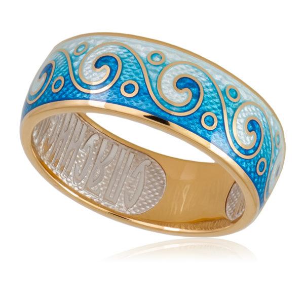 6 65 1z 600x600 - Кольцо «Меандр» (золочение), синяя