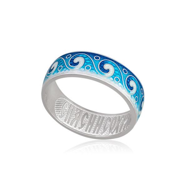 6 65 3s 1 1 600x600 - Кольцо из серебра «Меандр», синяя