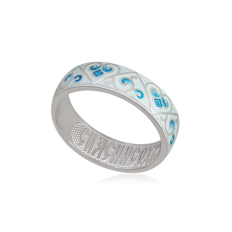 6 67 1s 2 - Кольцо из серебра «Державное», белое