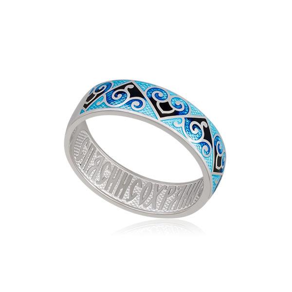 6 67 2s 1 600x600 - Кольцо из серебра «Державное», синяя