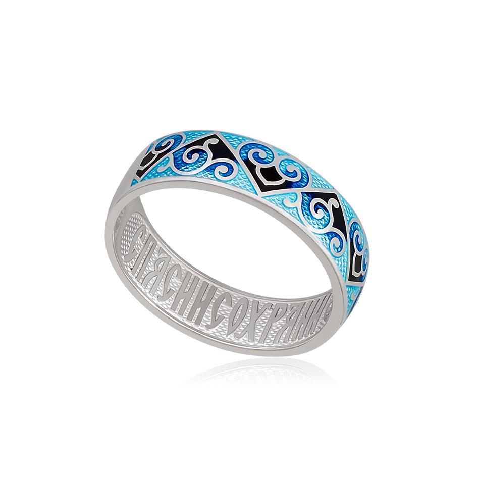 6 67 2s 1 - Кольцо из серебра «Державное», синяя