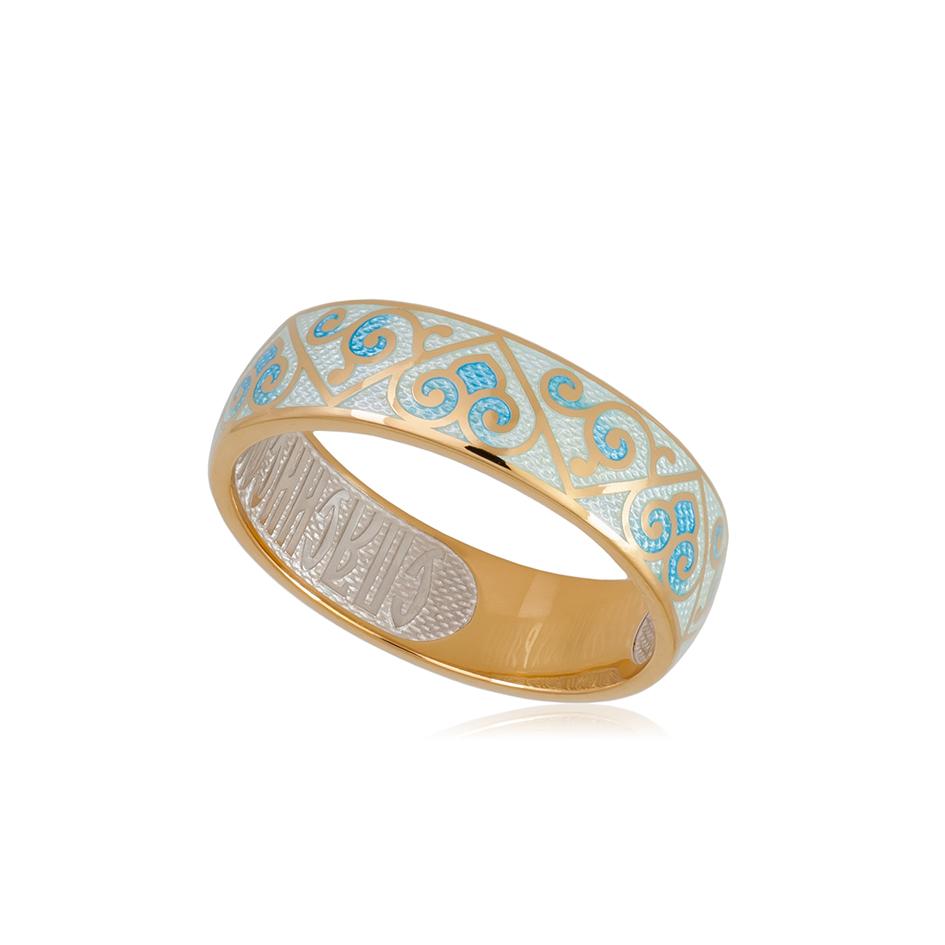 6 67 3z 1 - Кольцо из серебра «Державное» (золочение), белое