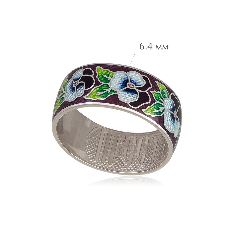 6 69 3s 1 2 - Кольцо из серебра «Анютины глазки», прозрачное
