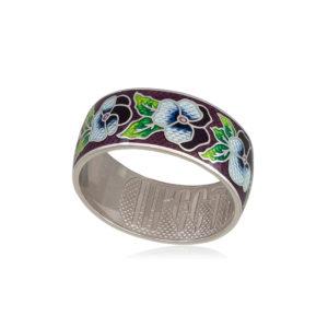 6 69 3s 1 300x300 - Кольцо из серебра «Анютины глазки», прозрачное