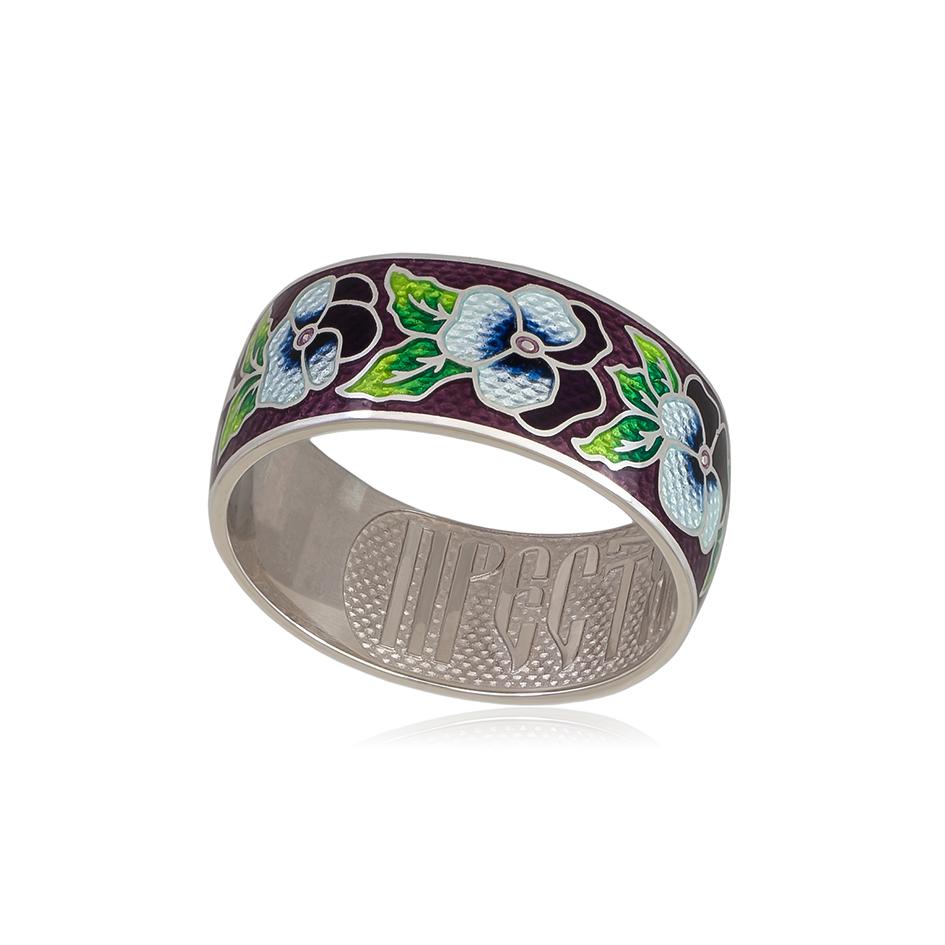 6 69 3s 1 - Кольцо из серебра «Анютины глазки», прозрачное